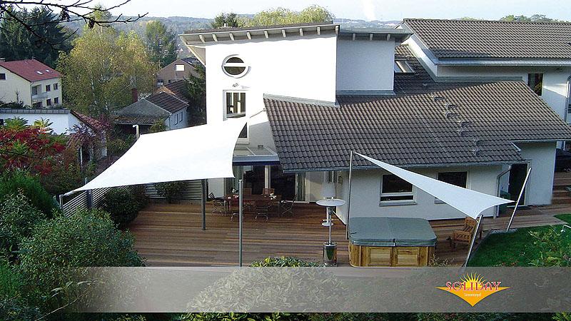 Exklusive Sonnensegel sonnensegel als sonnenschutz und beschattung mit aufrollbare